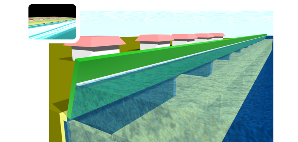 Tsunami/Storm Surge Disaster Mitigation Structure: T-ORCA