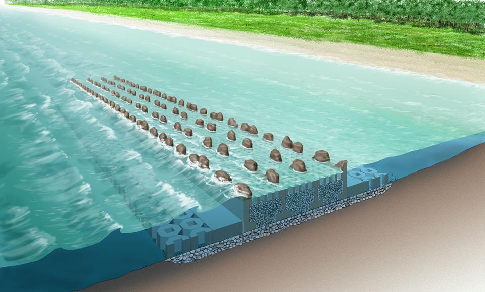Detached Breakwater of Gravity Type: Barrier-Win