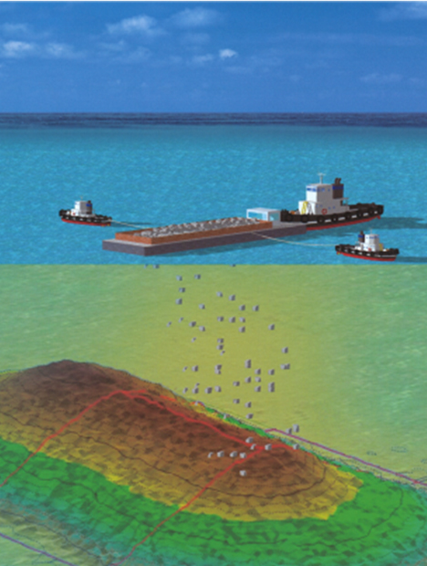 Deep-Water Rubble Deposition Management System