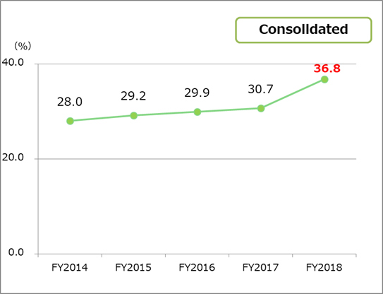 Equity ratio consolidated