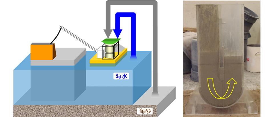 海水練り自己充填コンクリート SALSEC