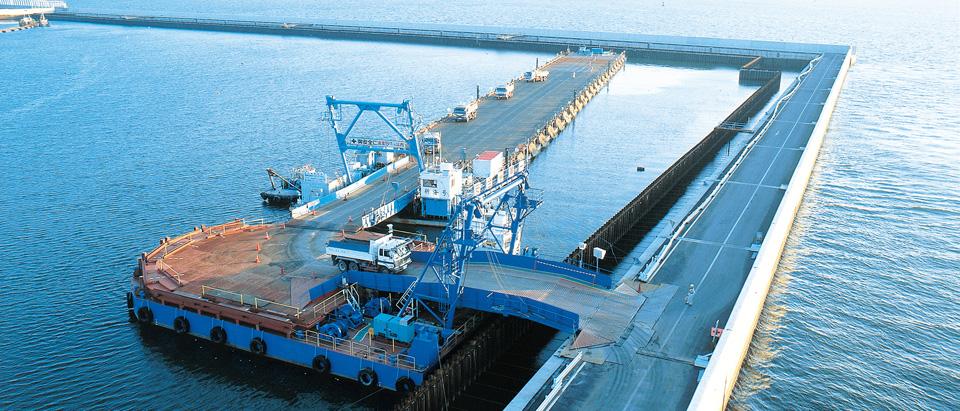 浮桟橋埋立工法