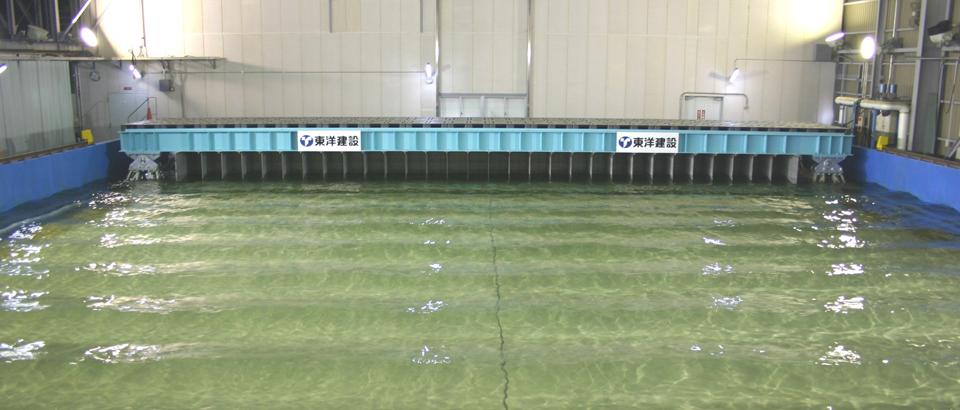 平面水槽・多方向不規則波造波装置