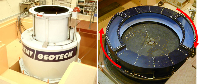 ドラム型遠心力載荷模型実験装置