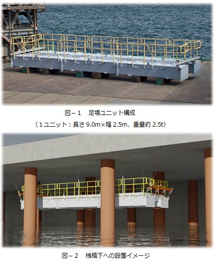 ユニット式吊足場 フレキシブル・シー・ステージ(FSS)